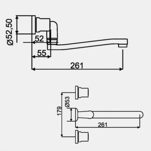 grifería de cocina hidromet spray 1035