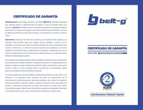 griferia ducha manilla moka 1/4 vuelta belt-g gri-0736