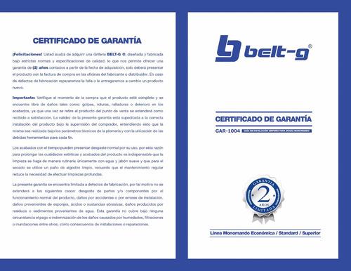 griferia ducha monomando tai belt-g gri-1499