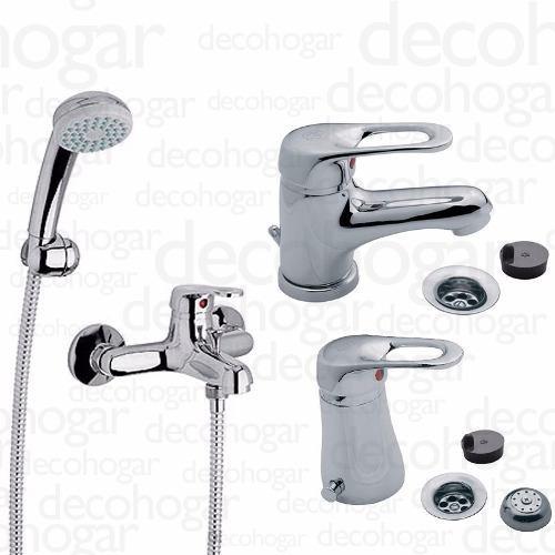 grifería fv arizona combo baño ducha exterio lavatorio bidet