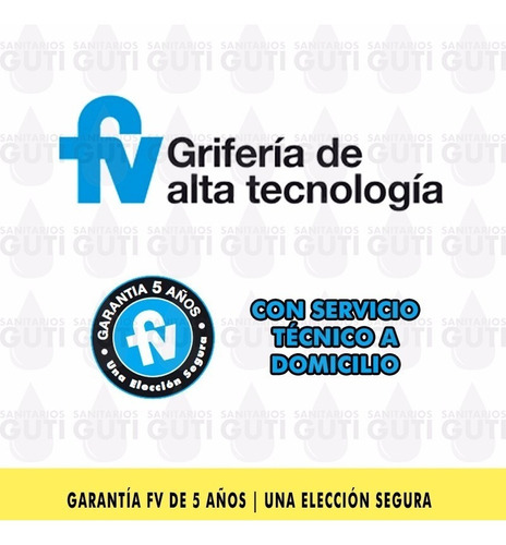 grifería fv denisse ducha transferencia ceramico 0103/64