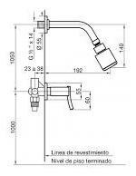 griferia fv ducha libby 109/39 sin transferencia cromo