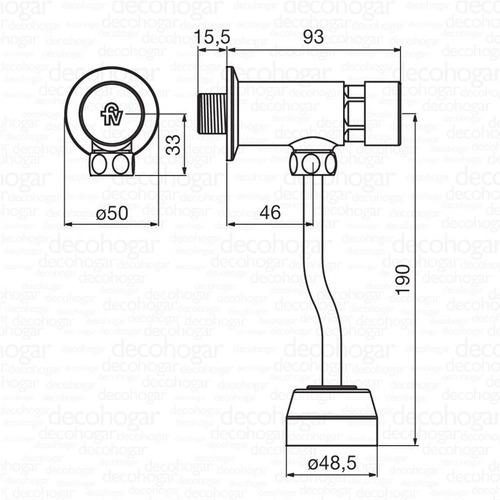 grifería fv ecomatic válvula automática p/ mingitorio 373.01