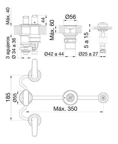 griferia fv epuyen bidet cromo 295/l2