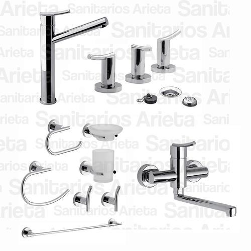 griferia fv libby lavatorio alto bidet cocina kit acc cs1842
