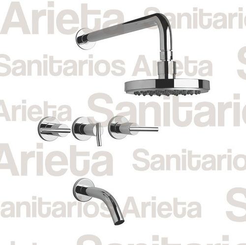 griferia fv libby lavatorio alto bidet ducha + 406/39 cs1802