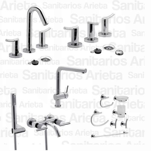 griferia fv libby lavatorio bide ducha ext cocina kit cs1891
