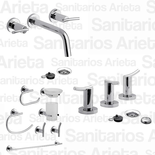 griferia fv libby lavatorio pared bide kit accesorios cs1709