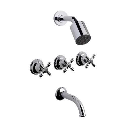 grifería fv newport plus baño bañera ducha embutida 103/b2p