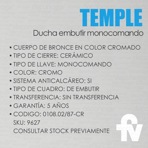 grifería fv temple ducha monocomando s/ transf 108.02/87