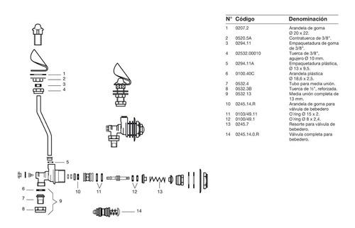 griferia fv valvula 245 canilla para bebedero venus cromo