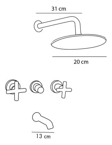 griferia hidromet climb lavatorio bidet ducha cs1493 - cupon