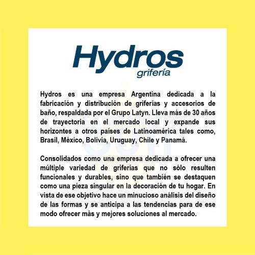 grifería hydros avant baño ducha embutida cierre cerámico