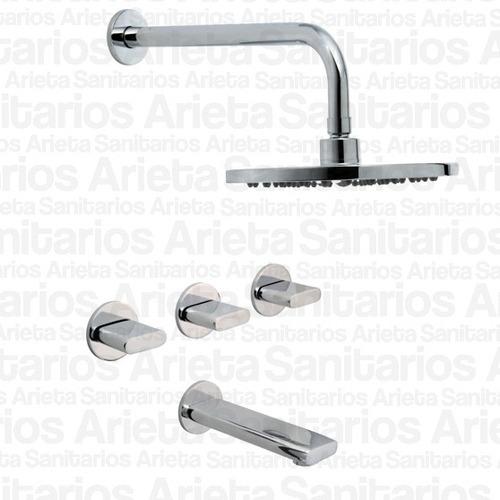 griferia hydros icon lavatorio ducha bidet + calyx cs0716