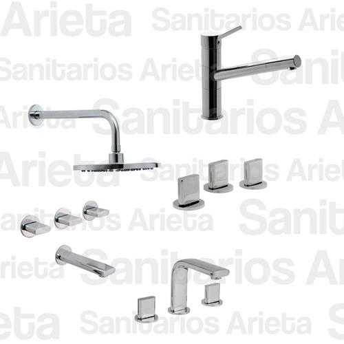 griferia hydros icon lavatorio ducha bidet + quartz cs0709