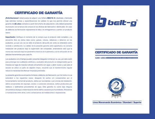 griferia lavamano monomando hat belt-g gri-1503
