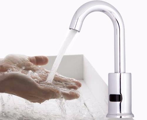 griferia lavamanos con sensor, sistema automático de cierre.