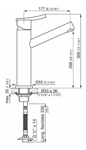 griferia lavatorio 181.02/39 libby monocomando fv