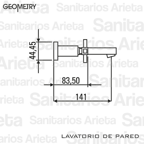 griferia lavatorio de pared hidromet geometry lever cromo
