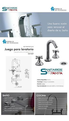 griferia lavatorio fv newport plus baño 0207/b2p-cr