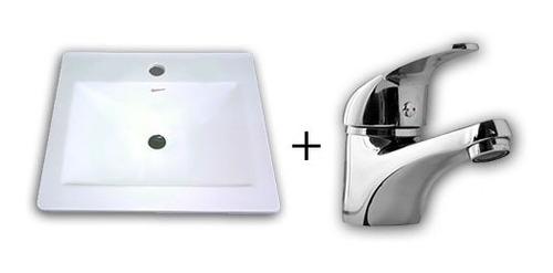 grifería lavatorio pared baño hydros calyx monocomando g10