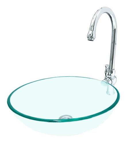 griferia monocomando alto + bacha de baño lavatorio vidrio