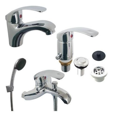 griferia monocomando canilla ducha baño incluye duchador
