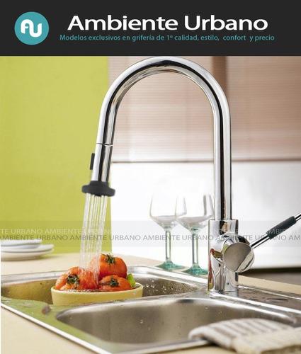 griferia monocomando cocina mesada duchador gourmet oferta