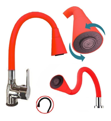 griferia monocomando flexible color cocina lavatorio oferta