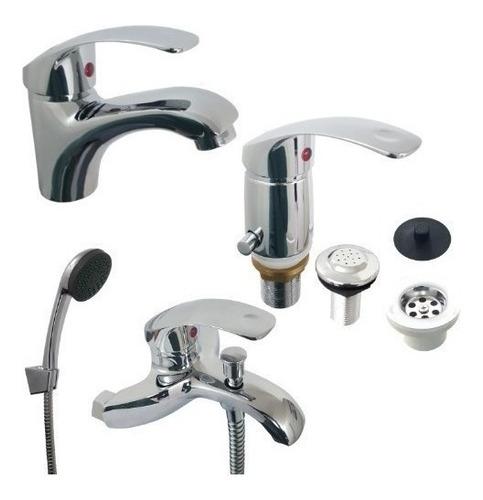 griferia monocomando lavatorio baño canilla incluye flexible