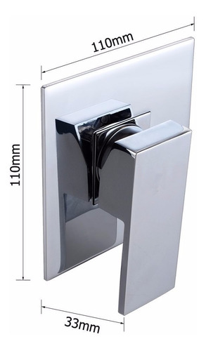grifería monocomando para ducha sin transferencia