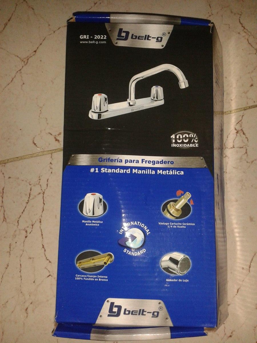 Griferia Para Fregadero Standard Marca Belt-g 100%inoxidable - Bs ...