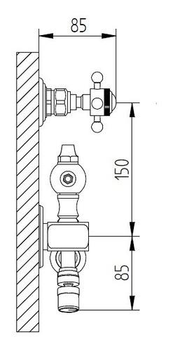 griferia robinet berna retractil 45cm cromo 6 cuotas