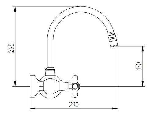 griferia robinet charleston pared cromo 6 cuotas