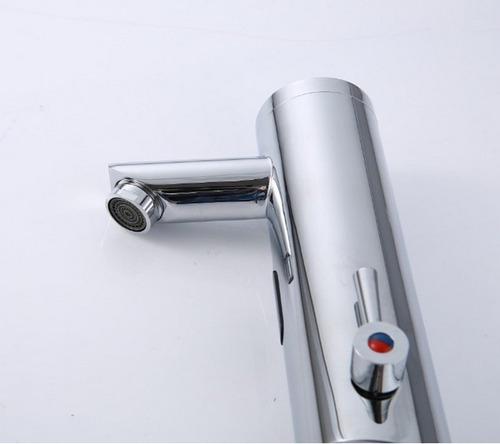 grifo automatico sensor mezclador en cuello recto valvula