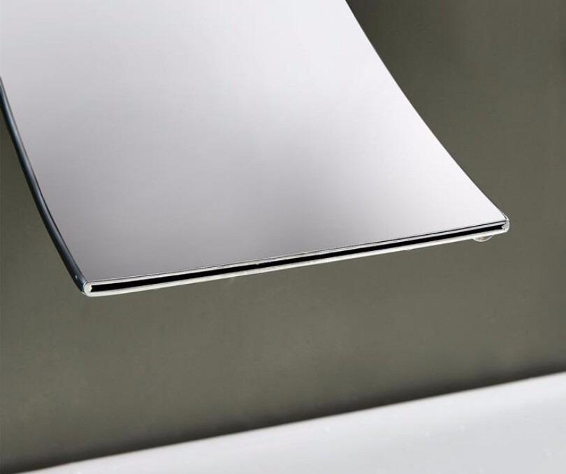 Grifo cascada mezcladora para tina o ba o monomando pared for Mezcladora para bano