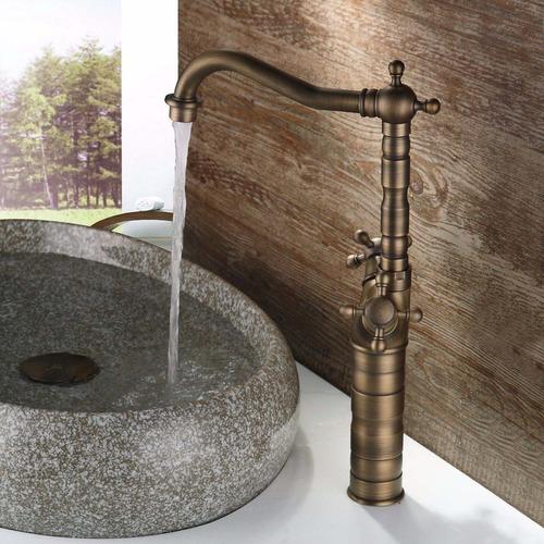grifo llave baño o cocina mezcladora acabado laton antiguo 7