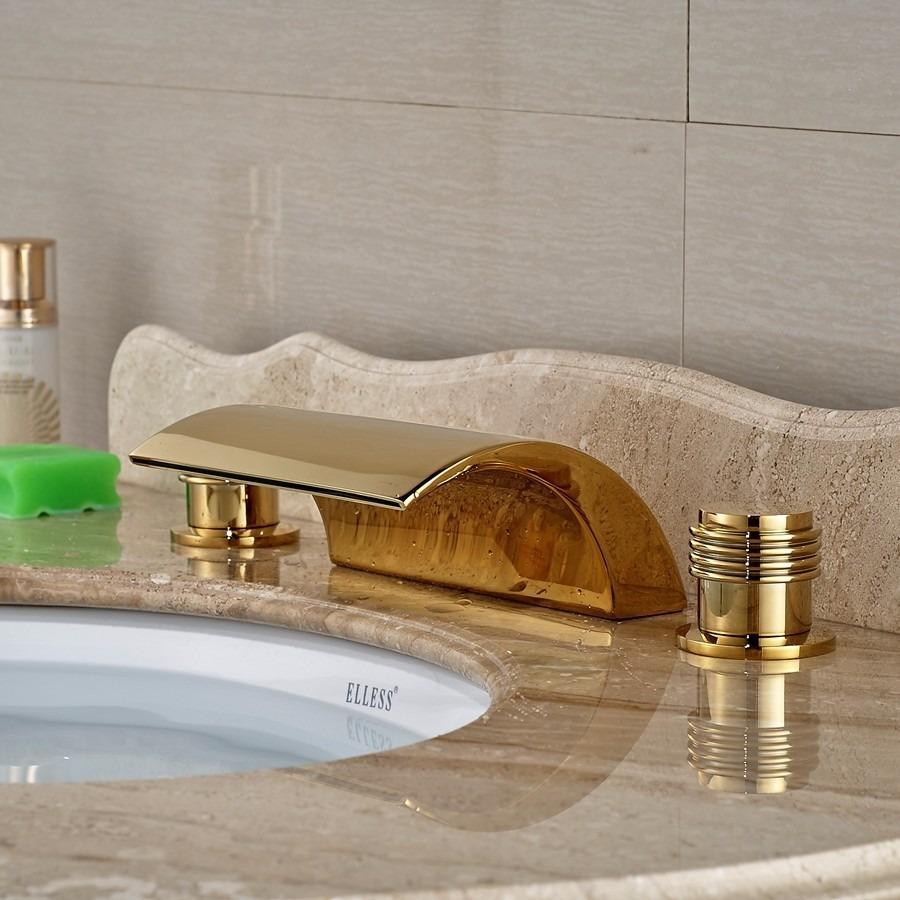 Grifo llave lavabo ba o oro entrega de 8a12dh 2 for Llaves para lavabo de bano