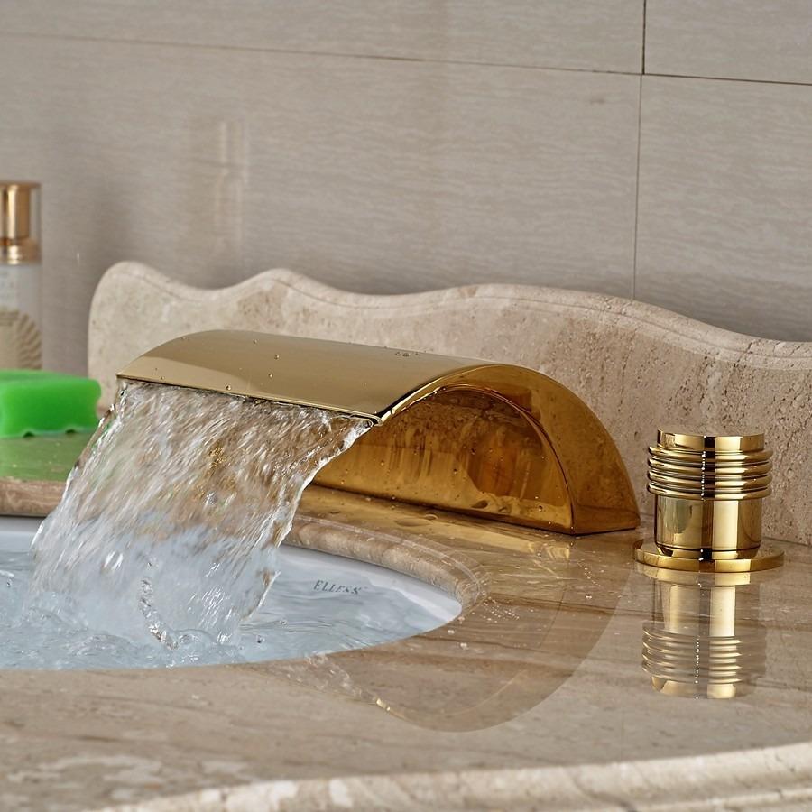 Grifo llave lavabo ba o oro entrega de 8a12dh 2 for Llaves de bano precios