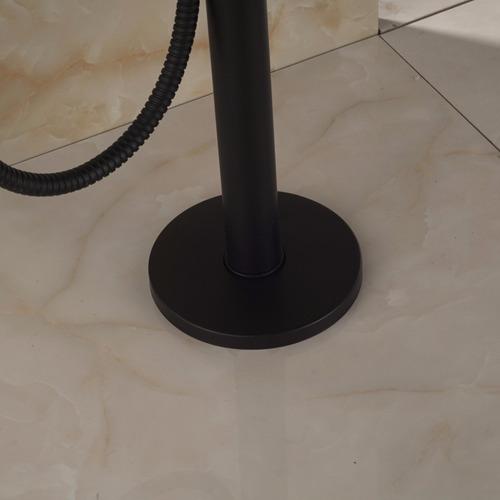 grifo mezcladora llave para tina de pie negra ent 8a12 dh
