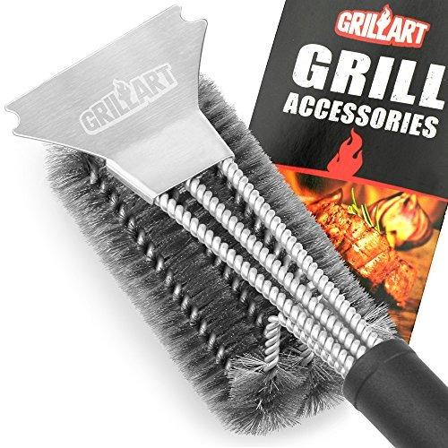 grill brush and scraper - grillart best cepillo de barbacoa