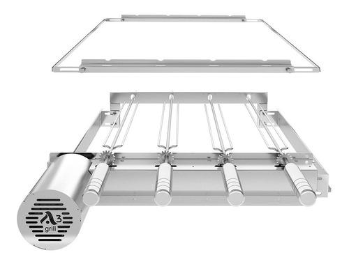 grill gira regulavel p prémoldadas 4 espetos + suporte móvel