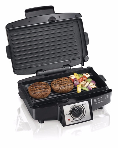 grill grelha elétrica para carnes pães hamilton beach 25332
