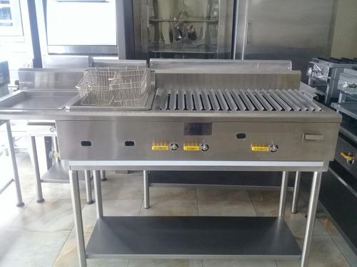grill parrilla freidora con 2 canastillas somos fabricantes