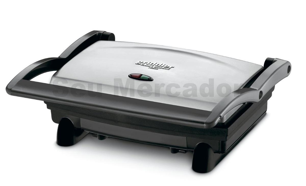 grill sanduicheira grande a o inox cusinart para hamburguer r 468 60 em mercado livre. Black Bedroom Furniture Sets. Home Design Ideas