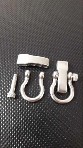 grillete premium pulsera supervivencia paracord acero inox