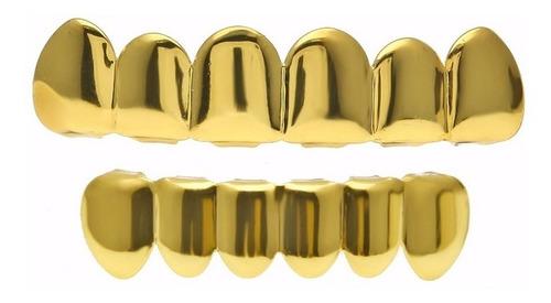 grillz ouro 18k completo - pronta entrega | grillz prata