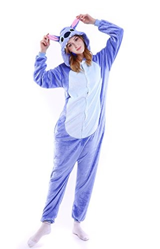 estilos clásicos genuino mejor calificado grandes ofertas en moda Grilong Stitch Onesie Traje Unisex Adultos Animales Pijamas