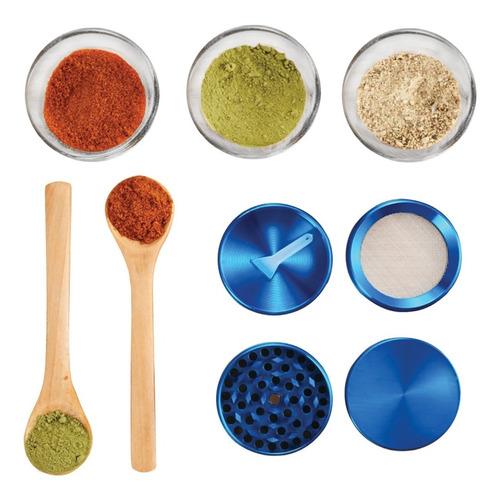 grinder metálico moledor de hierba 7 colores 55mm diámetro
