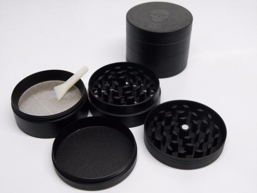 grinder negro metalico diametro 5 cm - calavera  + acc
